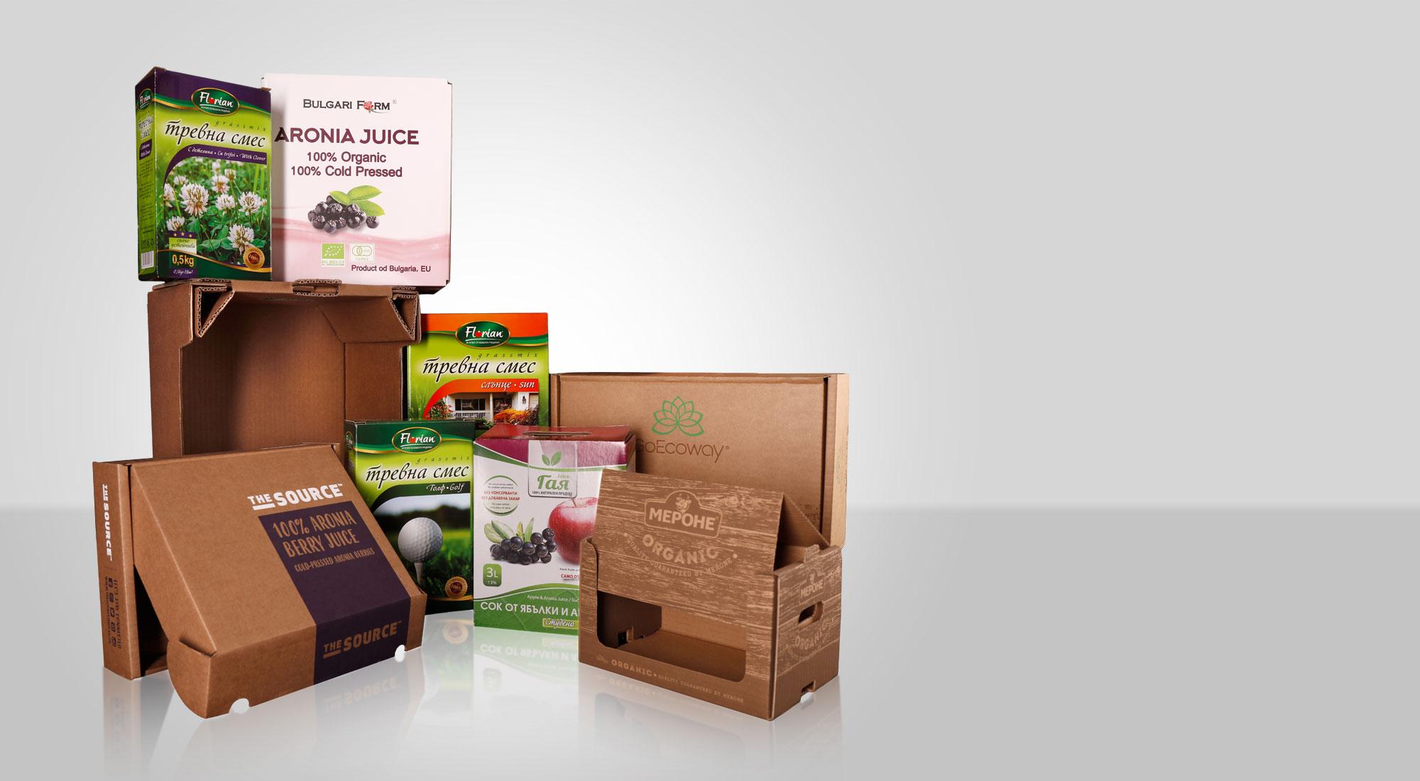 Проектиране и производство на опаковки и продукти от велпапе